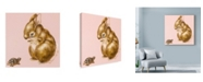 """Trademark Global Peggy Harris 'Bunny And Turtle' Canvas Art - 14"""" x 14"""""""