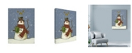 "Trademark Global Margaret Wilson 'The Snowmans Gift' Canvas Art - 14"" x 19"""