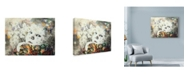 "Trademark Global Minjae 'Blooming' Canvas Art - 19"" x 14"""
