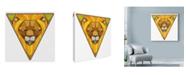 "Trademark Global Ric Stultz 'Containing The Beast' Canvas Art - 14"" x 14"""