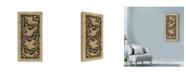 "Trademark Global Michele Meissner 'Apple 3 Butterflies' Canvas Art - 12"" x 24"""