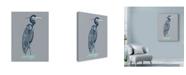 "Trademark Global Rachel Caldwell 'Blue Heron Centered' Canvas Art - 14"" x 19"""