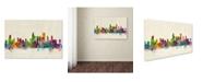 """Trademark Global Michael Tompsett 'Chicago Illinois' Canvas Art - 18"""" x 28"""""""
