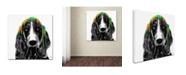 """Trademark Global Marlene Watson 'Basset Hound' Canvas Art - 18"""" x 18"""""""