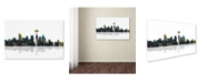 "Trademark Global Marlene Watson 'Seattle Washington Skyline' Canvas Art - 16"" x 24"""