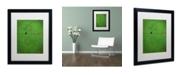 """Trademark Global Nicole Dietz 'Lone Bird Green' Matted Framed Art - 16"""" x 20"""""""