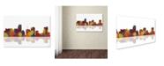 "Trademark Global Marlene Watson 'Miami Florida Skyline II' Canvas Art - 16"" x 24"""