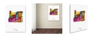 "Trademark Global Michael Tompsett 'Oregon Map' Canvas Art - 18"" x 24"""