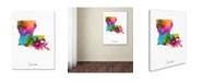 "Trademark Global Michael Tompsett 'Louisiana Map' Canvas Art - 18"" x 24"""