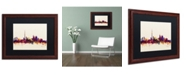 """Trademark Global Michael Tompsett 'Toronto Canada Skyline VI' Matted Framed Art - 16"""" x 20"""""""