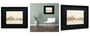 """Trademark Global Michael Tompsett 'New York Skyline Sheet Music II' Matted Framed Art - 16"""" x 20"""""""