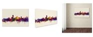 """Trademark Global Michael Tompsett 'Adelaide Australia Skyline' Canvas Art - 30"""" x 47"""""""