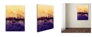 "Trademark Global Michael Tompsett 'Edinburgh Skyline Tall Yellow' Canvas Art - 24"" x 32"""