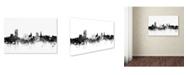 "Trademark Global Michael Tompsett 'Sheffield England Skyline B&W' Canvas Art - 22"" x 32"""