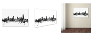 "Trademark Global Michael Tompsett 'Melbourne Skyline B&W' Canvas Art - 22"" x 32"""