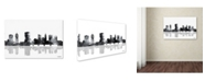 "Trademark Global Marlene Watson 'Columbus Ohio Skyline BG-1' Canvas Art - 22"" x 32"""
