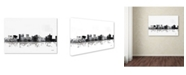 "Trademark Global Marlene Watson 'Topeka Kansas Skyline BG-1' Canvas Art - 22"" x 32"""