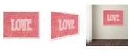 "Trademark Global Viz Art Ink 'Love' Canvas Art - 35"" x 47"""