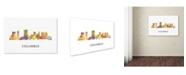 "Trademark Global Marlene Watson 'Columbus Ohio Skyline WB-1' Canvas Art - 30"" x 47"""