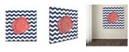 "Trademark Global Stephanie Marrott 'Fish Wave' Canvas Art - 35"" x 35"""