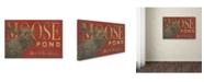 "Trademark Global Stephanie Marrott 'Moose Pond' Canvas Art - 22"" x 32"""