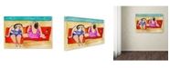 "Trademark Global Wyanne 'Big Divas Lounging On The Beach' Canvas Art - 22"" x 32"""