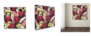"Trademark Global Mark Ashkenazi 'Flowers And Wings' Canvas Art - 35"" x 35"""
