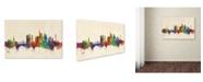 "Trademark Global Michael Tompsett 'Frankfurt Germany Skyline' Canvas Art - 30"" x 47"""