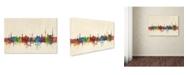 """Trademark Global Michael Tompsett 'Stuttgart Germany Skyline' Canvas Art - 30"""" x 47"""""""
