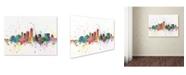 "Trademark Global Michael Tompsett 'Indianapolis Indiana Skyline II' Canvas Art - 35"" x 47"""