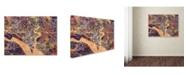 "Trademark Global Michael Tompsett 'Southampton England City Map IV' Canvas Art - 35"" x 47"""