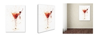 "Trademark Global Michael Tompsett 'Cocktail Drinks Glass Watercolor XII' Canvas Art - 24"" x 32"""