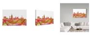 "Trademark Global Marlene Watson 'Lansing Michigan Skyline' Canvas Art - 30"" x 47"""