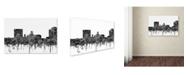 "Trademark Global Marlene Watson 'Augusta Georgia Skyline BW' Canvas Art - 22"" x 32"""