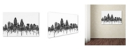 "Trademark Global Marlene Watson 'Cincinnati Ohio Skyline BW' Canvas Art - 22"" x 32"""