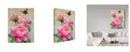"Trademark Global Howard Robinson 'Pink Flowers' Canvas Art - 35"" x 47"""