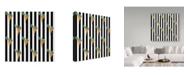 """Trademark Global Jessmessin 'Fat Carrots Black' Canvas Art - 24"""" x 24"""""""