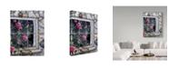 """Trademark Global Jeff Tift 'Bluebirds In Window' Canvas Art - 24"""" x 32"""""""