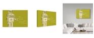 """Trademark Global John W. Golden 'Lunastrella Robot' Canvas Art - 30"""" x 47"""""""