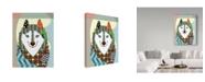 "Trademark Global Lanre Adefioye 'American Eskimo' Canvas Art - 35"" x 47"""