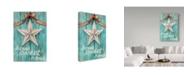 "Trademark Global Melinda Hipsher 'White Barn Star With Bow Home White' Canvas Art - 30"" x 47"""