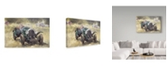 "Trademark Global Peter Miller 'The Green Bentley at Althorp' Canvas Art - 22"" x 32"""