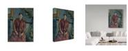 "Trademark Global Paul Cezanne 'Madame Cezanne In A Red Dress' Canvas Art - 47"" x 35"""