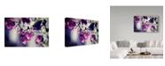 "Trademark Global Incredi 'Purple Macro' Canvas Art - 32"" x 22"""