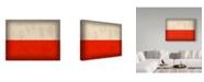 "Trademark Global Red Atlas Designs 'Poland Distressed Flag' Canvas Art - 24"" x 18"""