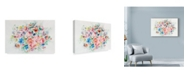 "Trademark Global Li Bo 'Floral Arrangement Mid 2' Canvas Art - 32"" x 22"""