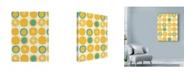 "Trademark Global Rachel Gresham 'Lemon Dots' Canvas Art - 35"" x 47"""