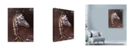 "Trademark Global Michael Jackson 'Giraffe Portrait Centered' Canvas Art - 35"" x 47"""