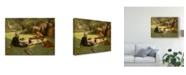 "Trademark Global James Jacques Joseph Tissot 'In Full Sunlight En Plein Soleil' Canvas Art - 32"" x 24"""
