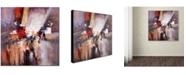 "Trademark Global Rio 'Cube Abstract II' Canvas Art - 35"" x 35"""